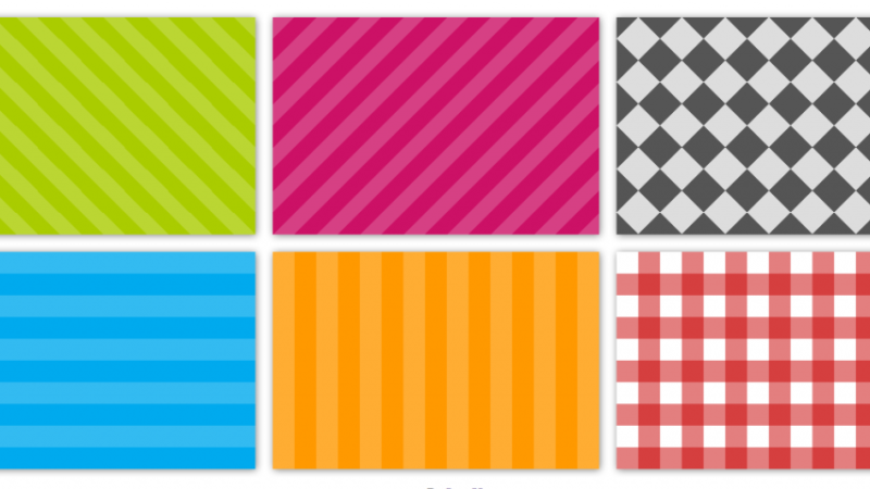 How to make a striped background for site items on a clean CSS
